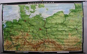Norddeutschland Karte.Details Zu Schulwandkarte Wandkarte Schulkarte Rollkarte Alte Karte Norddeutschland 269x166
