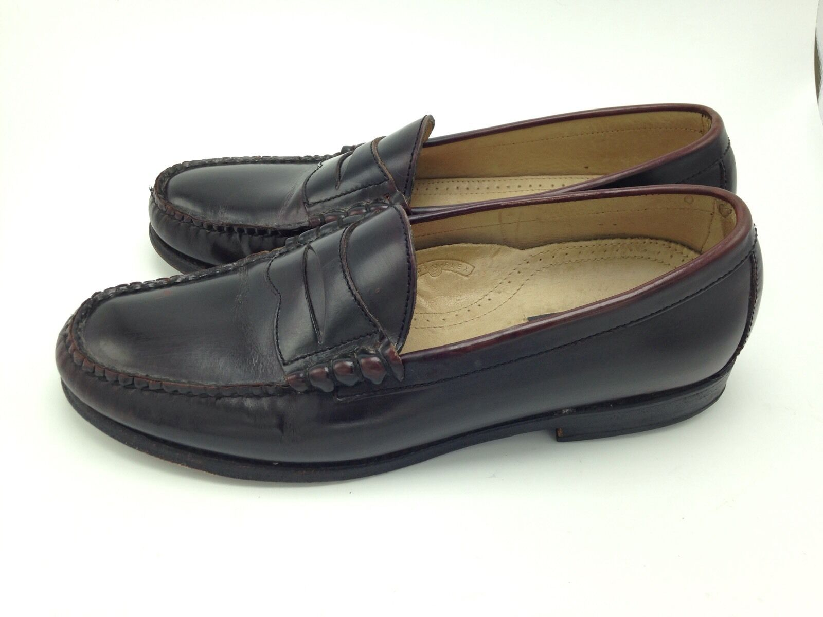 Bostonian 10.5 D Crown Windsor Brown All Leather Penny Loafer First Flex Brazil