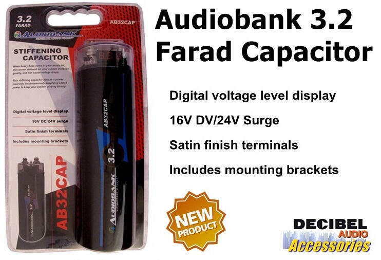 Audiobank 3.2 Farad Capacitor