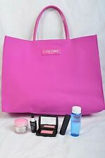 6 Pc Lancome Gift Set - Moisture, Eyes, Lips,  & tote - All Skin Types