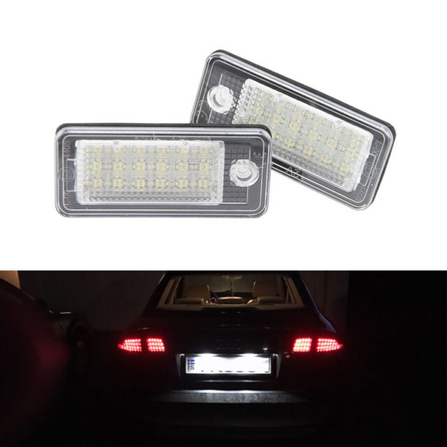 AUDI A3 S3 RS3 8P A4 S4 B6 RS4 8E B7 A6 C6 Q7 RS6 WHITE LED LICENSE PLATE LIGHT