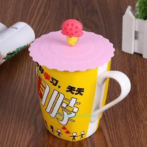 38d1f209b26 10cm Cute Silicone Coffee Mug Anti-dust Reusable Glass Cup Magic ...