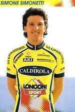 CYCLISME carte cycliste SIMONE SIMONETTI équipe VINI CALDIROLA