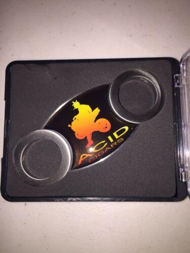 ACID Stainless Steel Metal Cigar Cutter BNIB Clear Display Gift Case Black