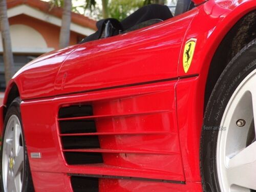 Ferrari 360 Modena Genuine Emblem Fender Badge Sticker Shield Decal Resin Coated