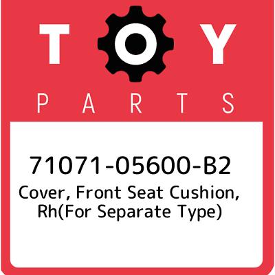 TOYOTA Genuine 71071-47110-B2 Seat Cushion Cover