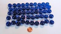 50 Blue Round Clear Glass 3/4 Marbles Crafts Games Art Floral Bridal Projects
