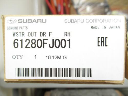 Genuine OEM Subaru 61280FJ001 Passenger Front Window Sweep WRX Impreza Crosstrek
