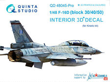 Quinta QD48045-PRO 1/48 F-16D 3D-Printed&coloured interior, Kinetic, (ADV. LVL.)