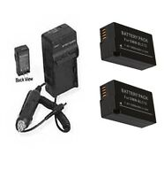 2x Dmw-blc12 Dmw-blc12e Batteries + Charger For Panasonic Dmc-fz1000 Dmc-fz1000k
