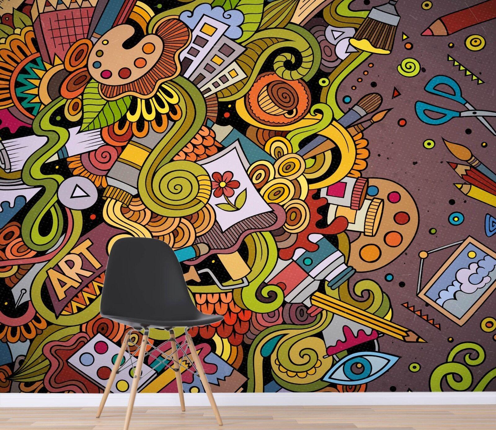 3D Gefärbt Karikatur 8 Tapete Wandgemälde Tapete Tapeten Bild Familie DE Sidney