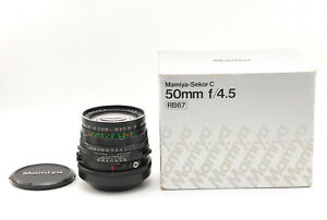 Nuovo-di-zecca-con-Scatola-MAMIYA-SEKOR-C-50mm-f-4-5-Wide-Angle-Lens-per-RB67-Giappone-Pro-S-SD