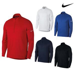 Nike-Therma-RPL-Halber-Reissverschluss-Golf-Top-nk314-Longsleeve-wasserabweisend-TOP