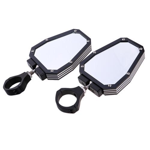 """Aluminum 1.75/"""" Roll Cage Side Mirror Rearview For UTV SXS Arctic Cat Polaris"""
