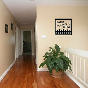 wall quotes words removable country decals lettering diy art ebay