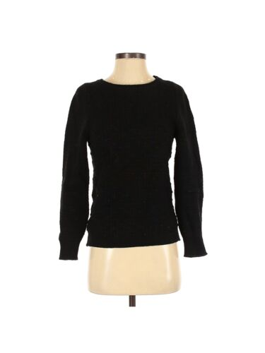 Inis Meáin Women Black Wool Pullover Sweater S