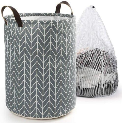 Laundry Hamper Basket Sorter Wash Clothes Storage Foldable Bag Bin Organizer