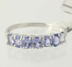 NEW-Tanzanite-Ring-Sterling-Silver-925-Women-039-s-Size-8-Oval-Cut-0-97ctw