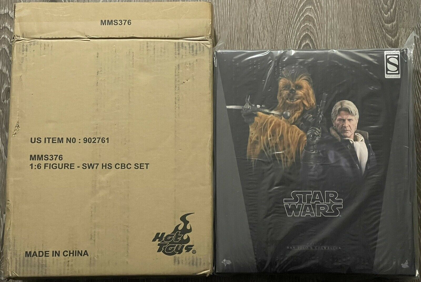 Hot Toys Star Wars HAN SOLO & CHEWBACCA The Force Awakens 1/6 Deluxe Set MMS376 on eBay thumbnail