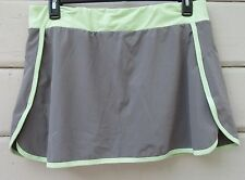 Sugoi Gray Acid Green Lightweight Sport Nylon Yoga Running Hiking Skort Wms XL