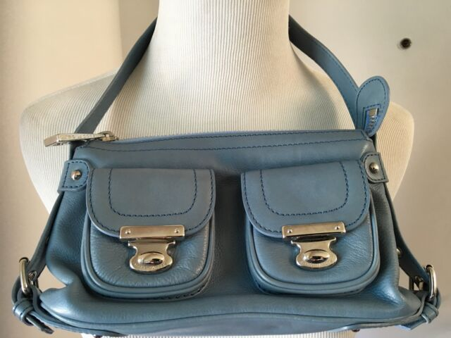 7ccd7b141426a Buy Marc Jacobs Women s Quinn Shoulder Handbag Purse in Ocean Blue ...