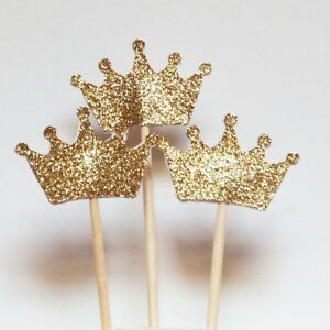 Crown-Baby-Shower-Birthday-Cake-Topper-Cake-Decor-Tool-Party-Supplies-Cupcake