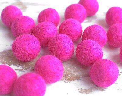 2cm PINK Felt Balls x20.Wool.Party Decor.Pom poms.Felt Ball.Wholesale.