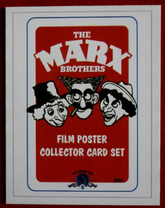MARX BROTHERS - Card #01 - HEADER CARD / CHECKLIST - from Movie Idols Set