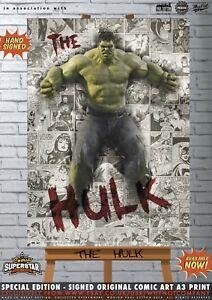 The-Hulk-Mark-Ruffalo-Avengers-Infinity-War-Comic-SUPERSTAR-A3-Signed-Print