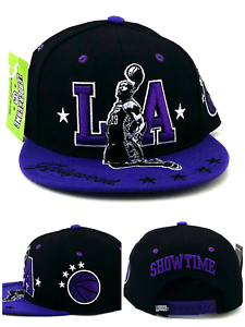 4771c7b7e Image is loading Los-Angeles-New-James-Showtime-Hollywood-Lakers-Black-