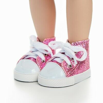 Silver Sneaker Shoes /& Box Fits 18 Inch American Girl Doll Clothes /& Accessories