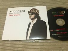 ZUCCHERO SPANISH CD SINGLE SPAIN 2 TRACK PROMO PURO AMORE SLIM CASE