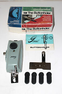 Vintage Greist for Necchi Buttonholer Buttonhole Maker Attachment w Cams Low
