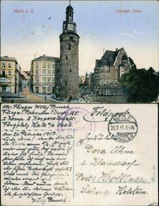 Ansichtskarte Halle (Saale) Leipziger-Turm 1917