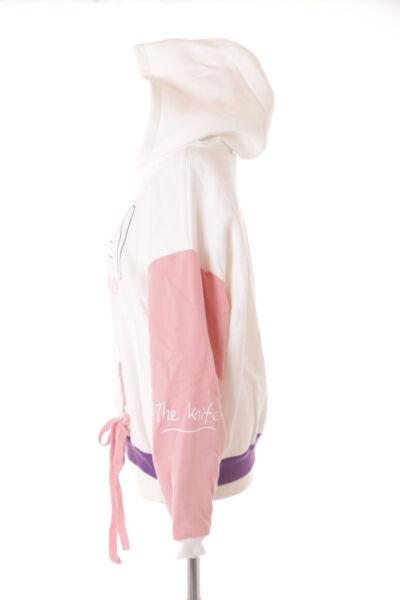 TS-169 Weiß Lila Rosa Cat Meal Katze Pastel Lolita Pullover Kapuzen Sweatshirt