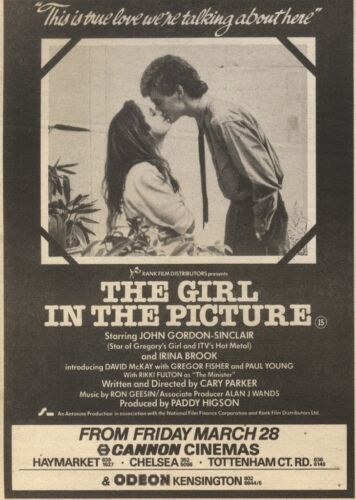 JOHN GORDON-SINCLAIR IN THE GIRL IN THE PICTURE 7X5 29//3//86PN16 ADVERT