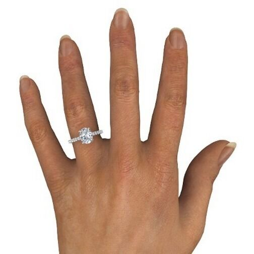 1 Carat F Vs1 Oval Solitaire Diamond Engagement Ring for sale online ... 4abf4a377783