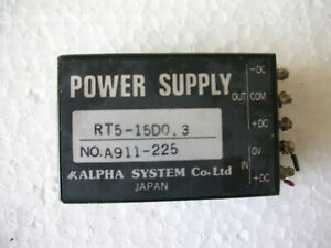 Kimoto-186-s-Alpha-System-Power-Supply-RT5-15D0-3-A911-225-Made-IN-Japan-Working