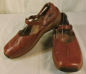KLOGS-Women-7-5-M-BROWN-Leather-Mary-Jane-Professional-Shoe-Slip-Resistant-NICE