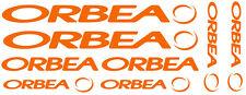 6 pegatinas de vinilo Naranja fluorescente Orbea  para bicicleta,  no 594