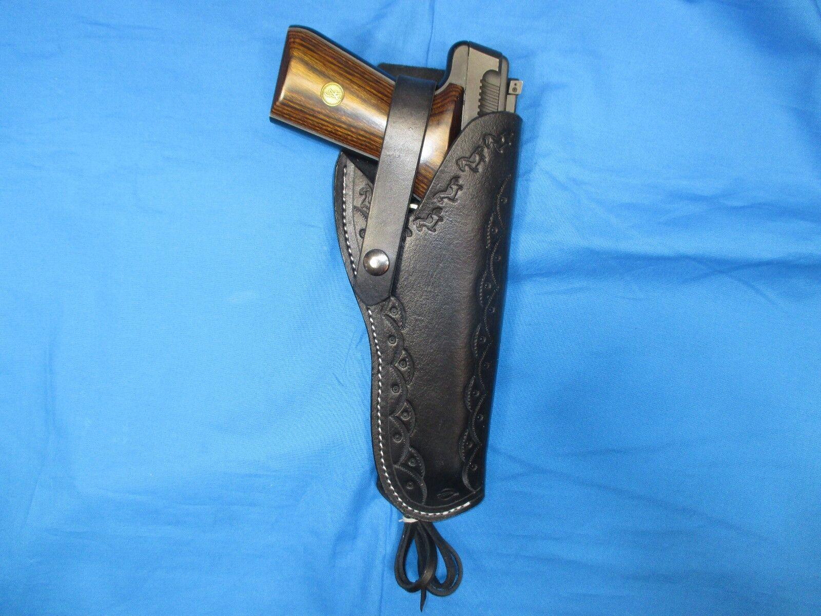 Funda de cuero de estilo occidental occidental occidental para marróning Buckmark .22 LR 08d44b