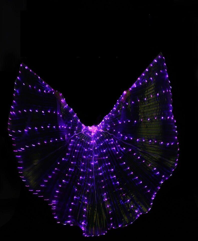 S001 LED Isis Wings Bauchtanz Club Licht Show Show Show Kostüm Ägyptische Flügel 7 Farben 816ce0