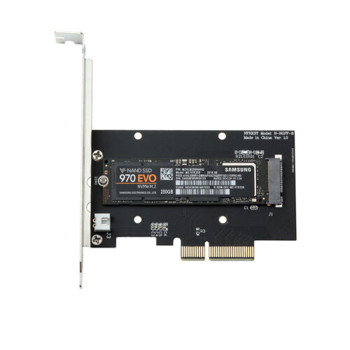 Pci-E 3.0 X4 Lane Host Adapter Converter Card M.2 Ngff M Key Ssd To Nvme+Fan new