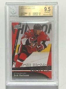 2009-10-Erik-Karlsson-Upper-Deck-Young-Guns-210-Rookie-RC-Card-BGS-9-5-GEM-MINT