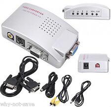PC Laptop VGA to RCA Composite S-video for tv VIDEO Converter Box VGA usb cable