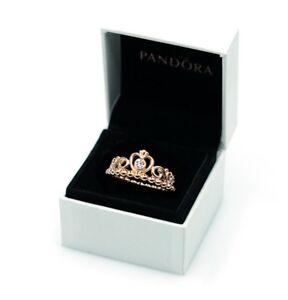 360a5d064 NEW Authentic PANDORA Rose™ Gold 925 Ale My Princess Tiara CZ Ring ...