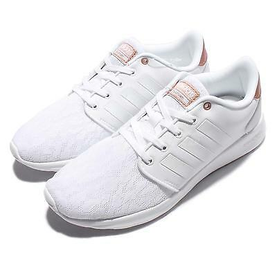 on sale e6790 31b24 adidas Cloudfoam QT Racer W White Rose Gold Women Running Shoes Sneakers  AW4018