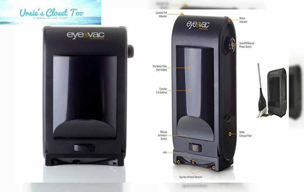 EyeVac PRO Touchless Stationary Vacuum - 1400 Watts Professional with Active...