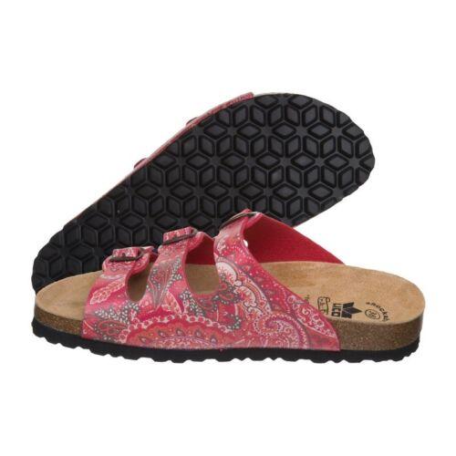 rot Tieffußbett LICO Slipper Sandale Bioline Damen