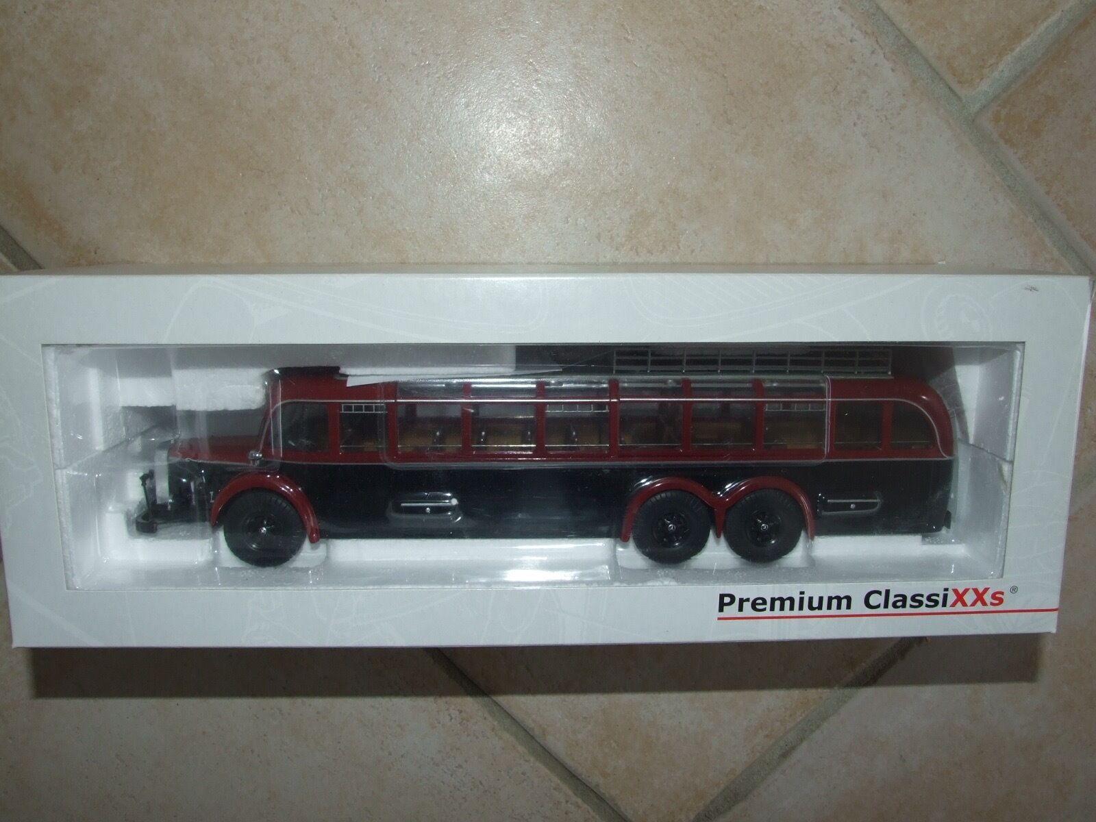 MERCEDES O 10000 AUTOCAR Rouge & Noir PREMIUM CLASSIXXS 1 43
